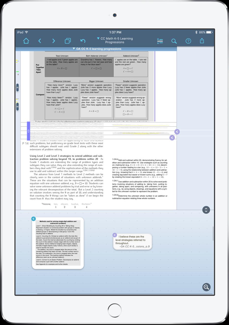 A PDF in LiquidText